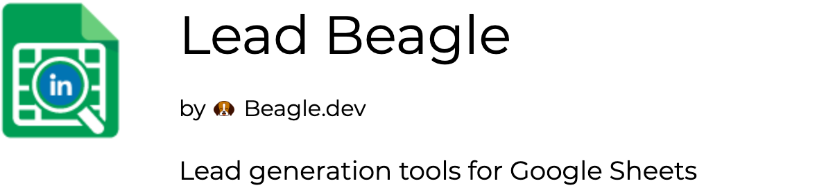 Lead Beagle - Lead Generation Tools for Google Sheets